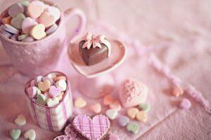 キャンディとチョコレートの画像